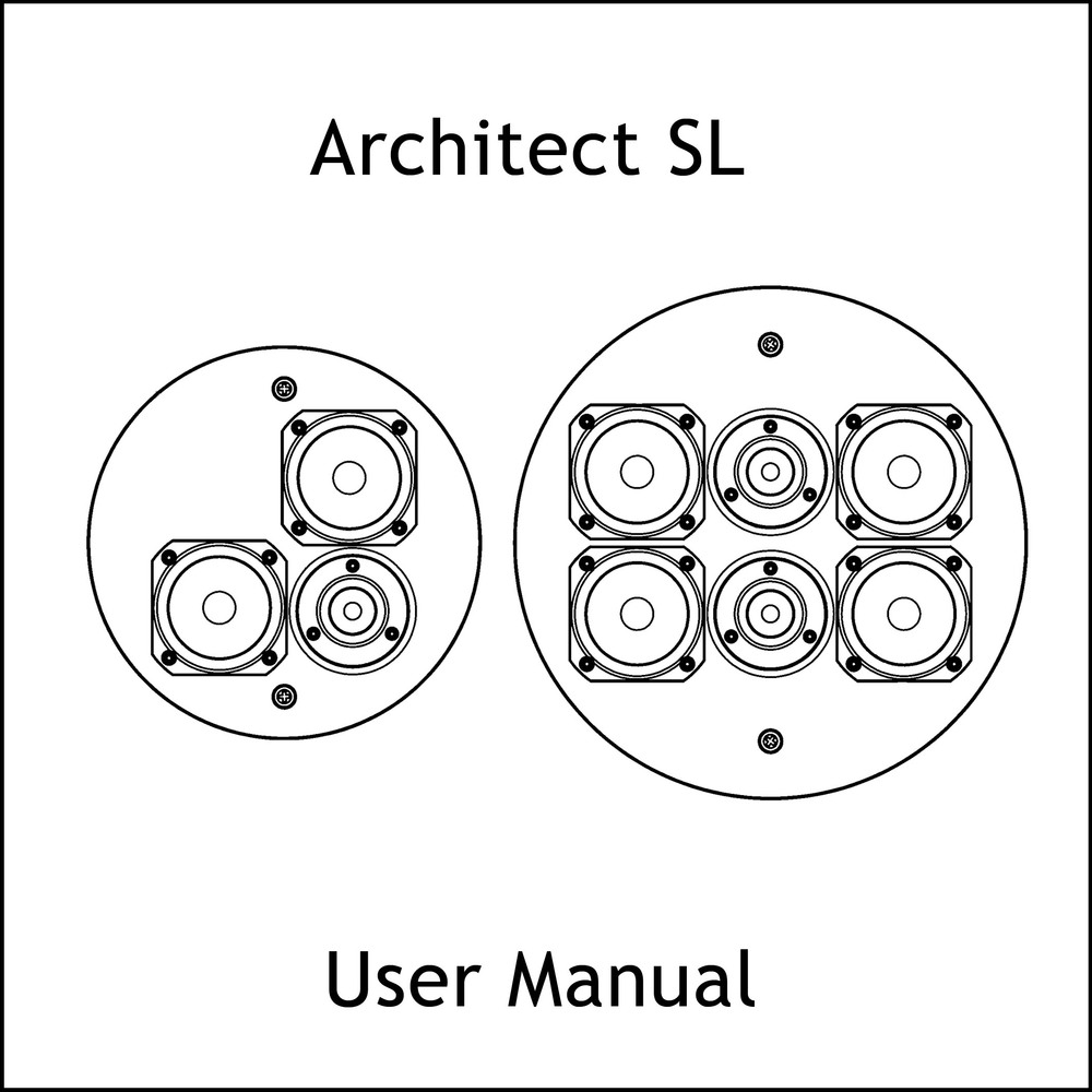 Artcoustic Loudspeakers Architect SL Manual