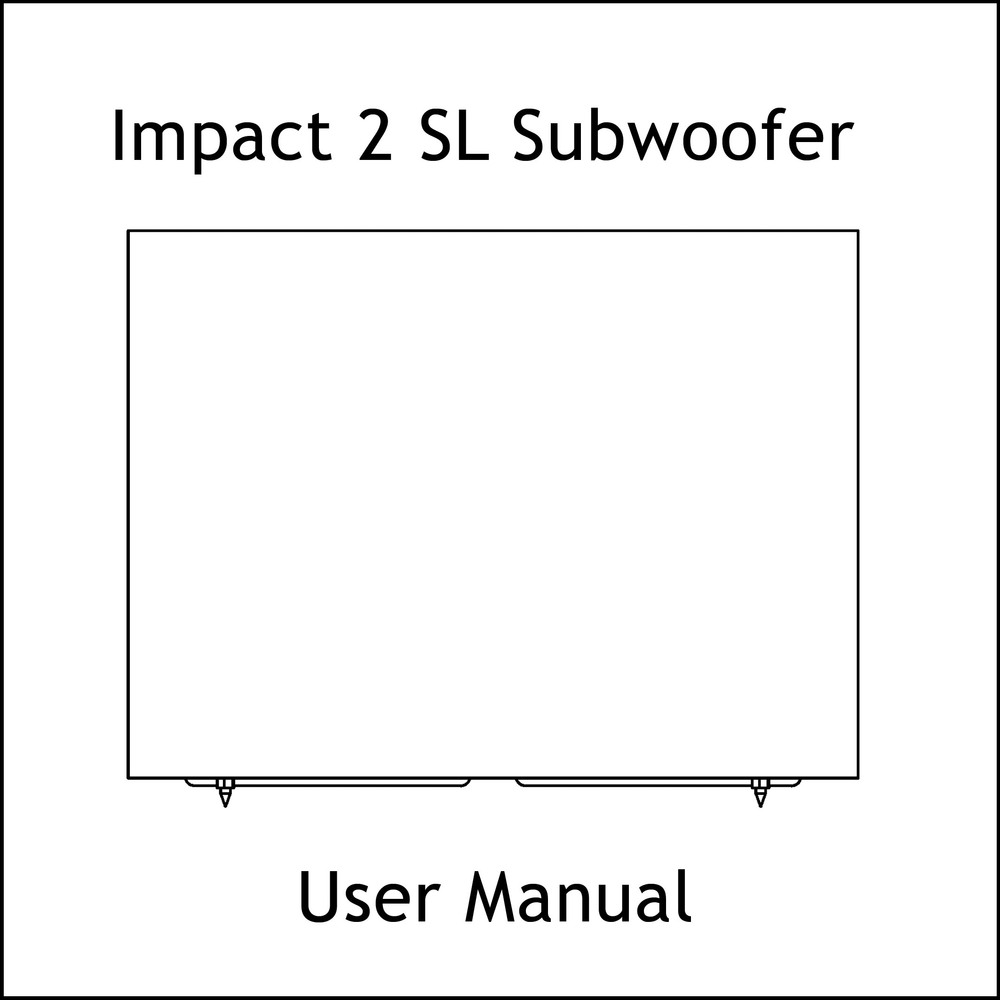Artcoustic Loudspeakers Impact-2 SL Sub Manual