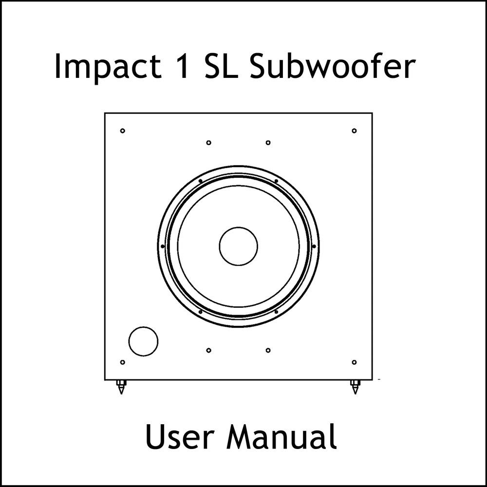 Artcoustic Loudspeakers Impact-1 SL Sub Manual