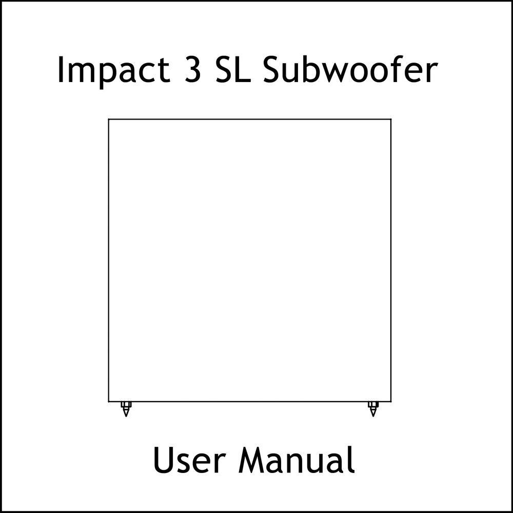 Artcoustic Loudspeakers Impact-3 SL Sub Manual