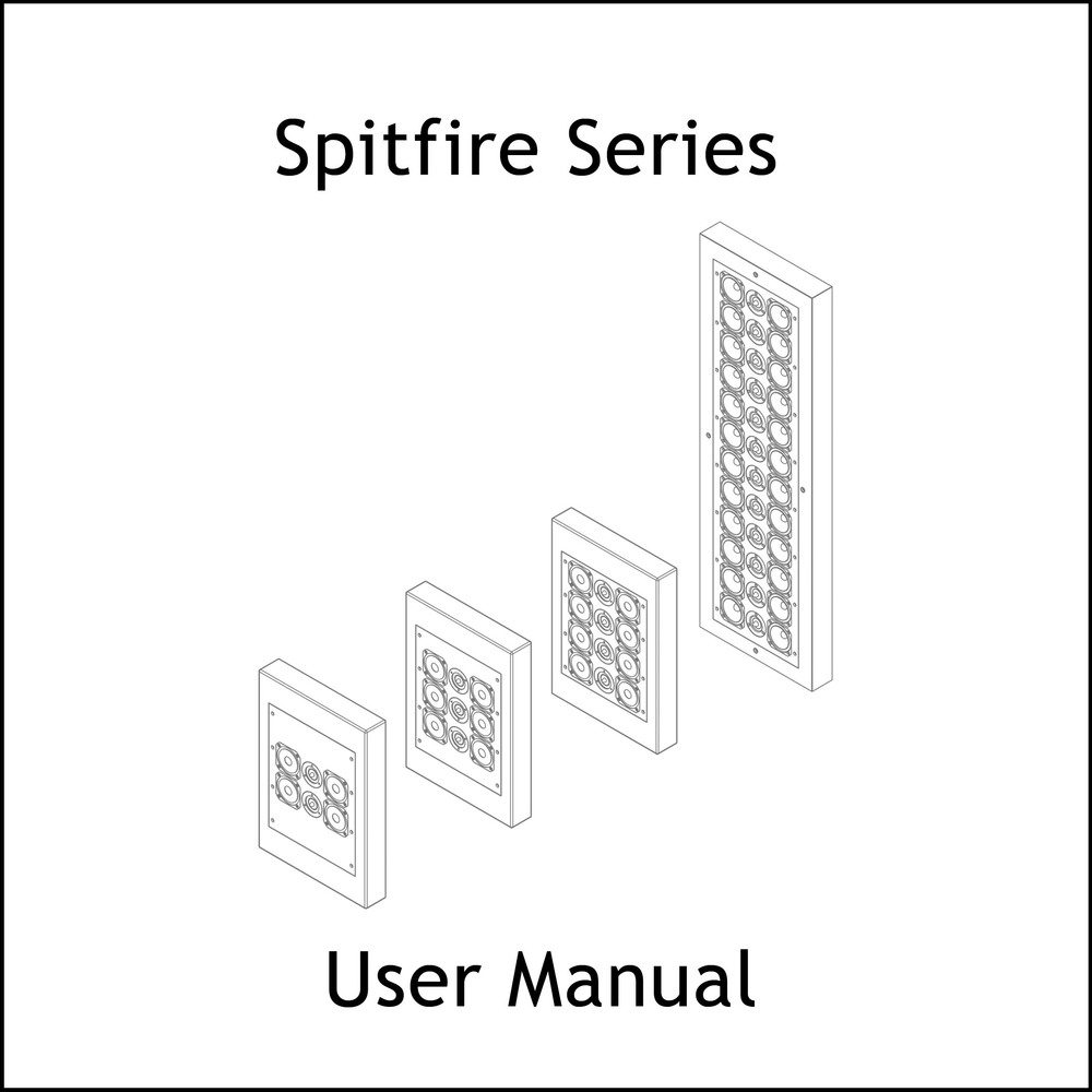 Artcoustic Loudspeakers Spitfire Series Manual