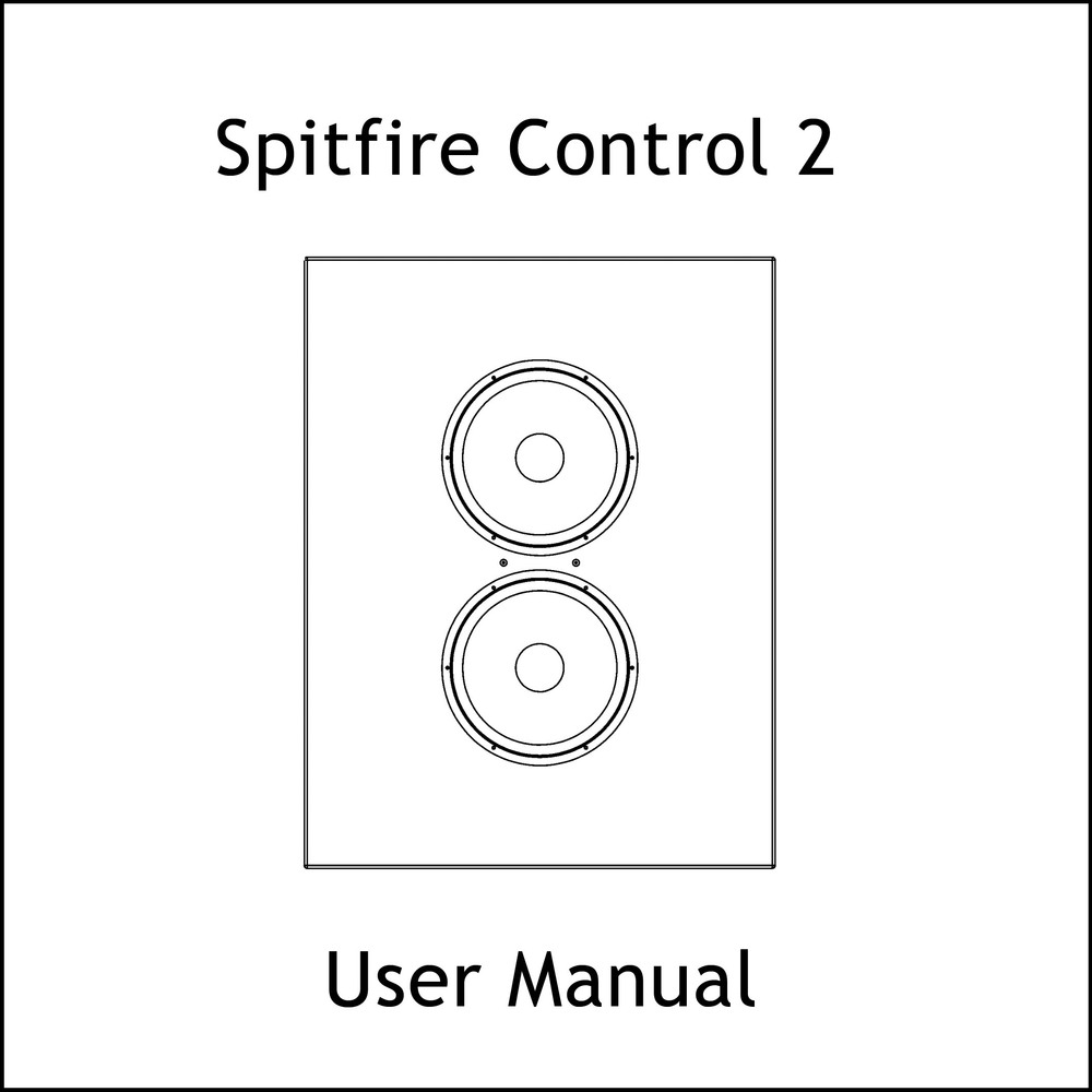 Artcoustic Loudspeakers Spitfire Control Series Manual