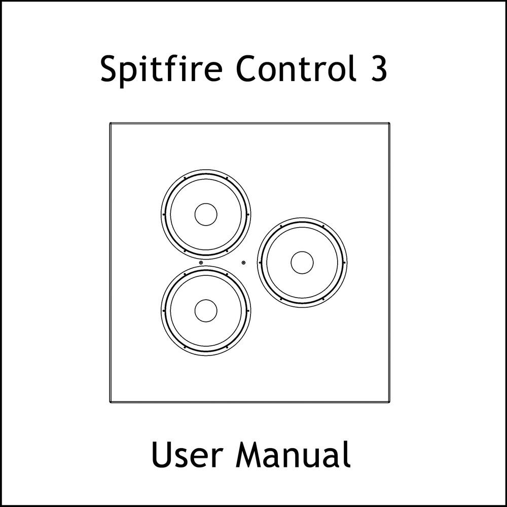 Artcoustic Loudspeakers Spitfire Control Series Manual