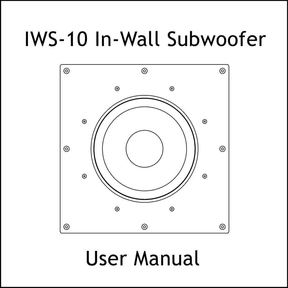 Artcoustic Loudspeakers IWS-10 Sub Manual
