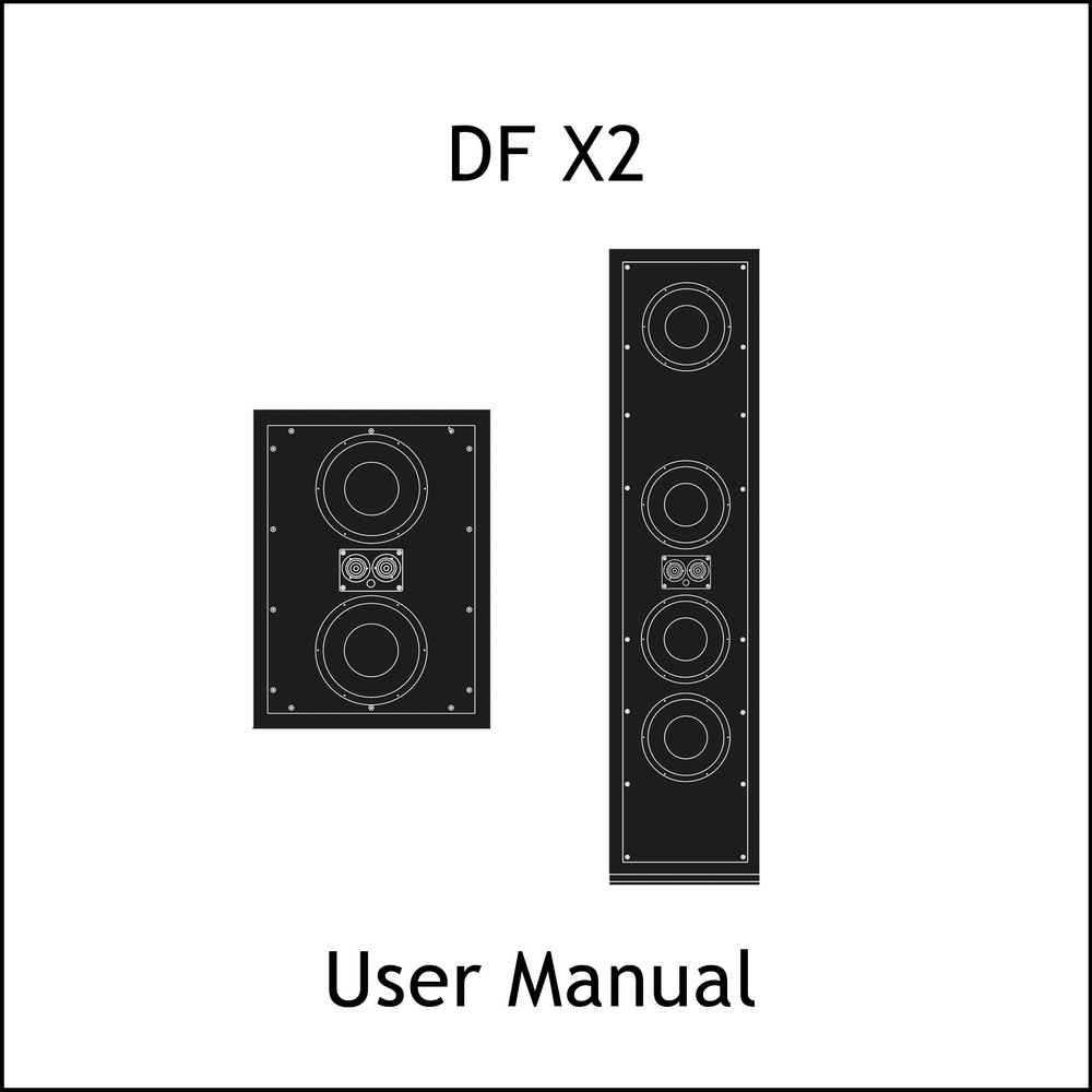 Artcoustic Loudspeakers DF X2 Manual