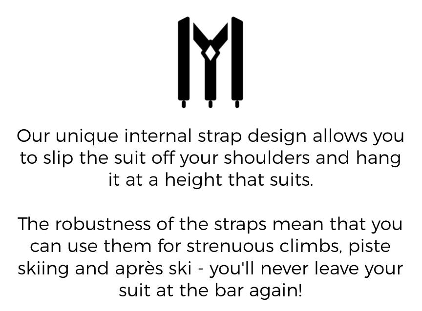 One Piece Ski Suit includes Unique Straps