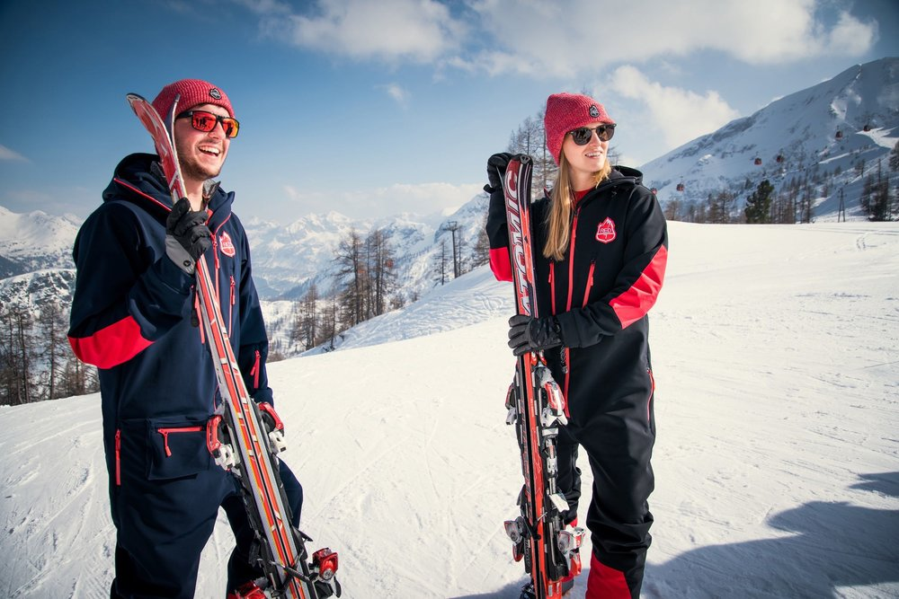 Are one piece ski suits in style - Red7SkiWear