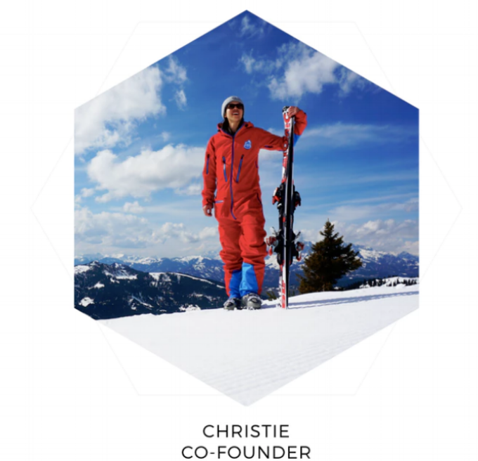 Red7SkiWear All in one Ski Suit- About Us Christie