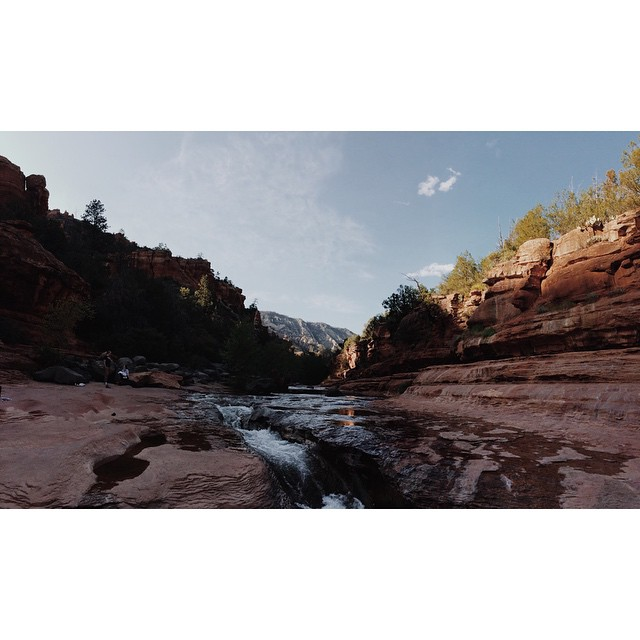 Around about this time last week. Slide Rock. #Arizona #sliderock