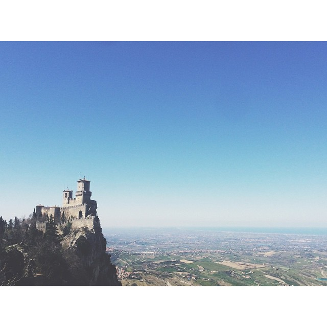 San Marino is very hilly. #sanmarino #italy #hills #castle #shoot