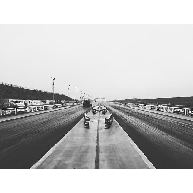 On the track #santapod #dragrace