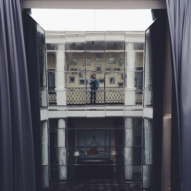 Giant rainy mirror selfie. #marrakech
