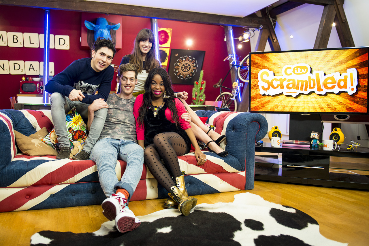 I shot the presenters from CITV's Scrambled a few weeks ago. I also shoot the show that goes out every Saturday and Sunday from 7.30am.