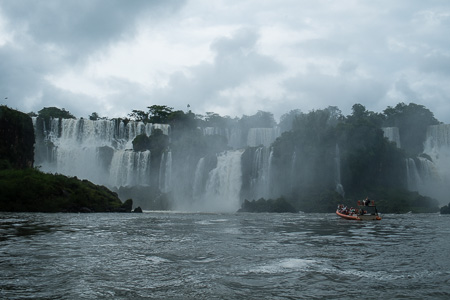 Iguzu Falls from zodiac, Argentina