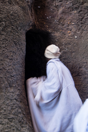 Tunnel between churches, Lalibela