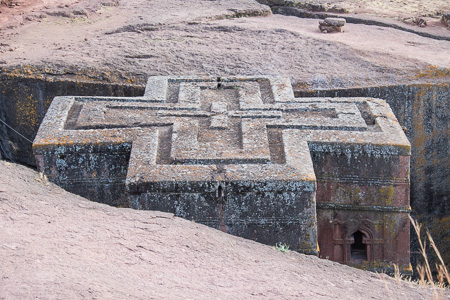 Roof of St. George's church, Lalibela