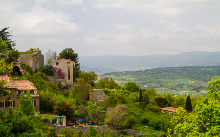Luberon valley from Saignon