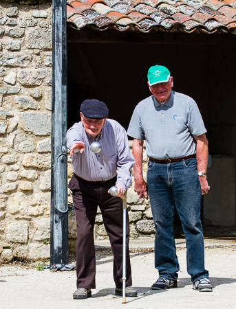 Boules players - Saignon