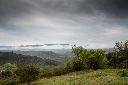 Clouds on the Luberon Mountains