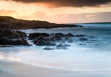 Harris, sunset beach