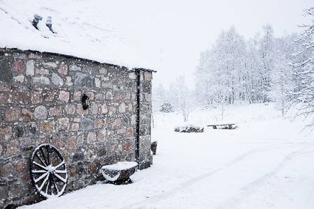 Cairngorms, day of departure, snowstorm
