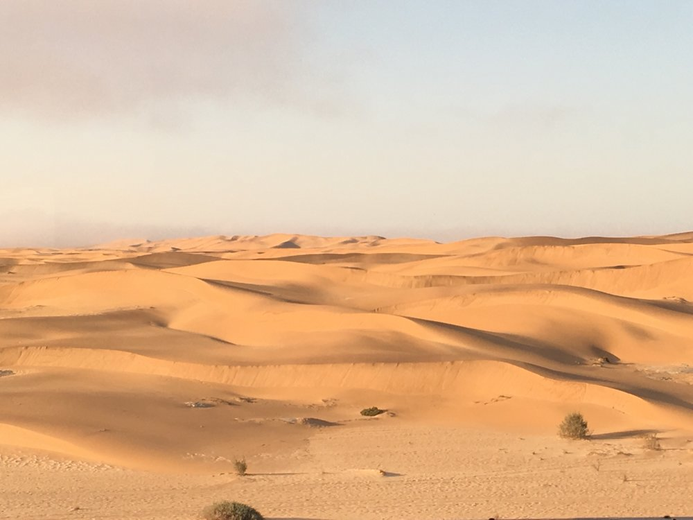 Dunes in Swakopmund from our hotel window