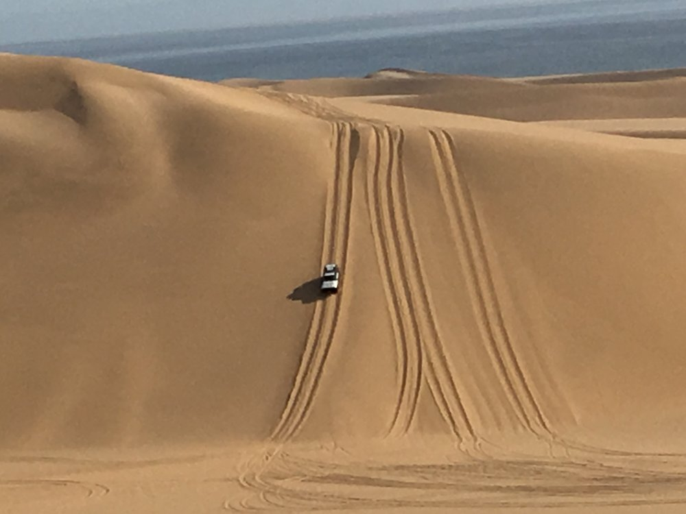 Down into a dune valley