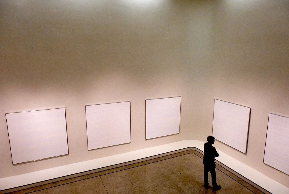 Agnes Martin show at the Guggenheim
