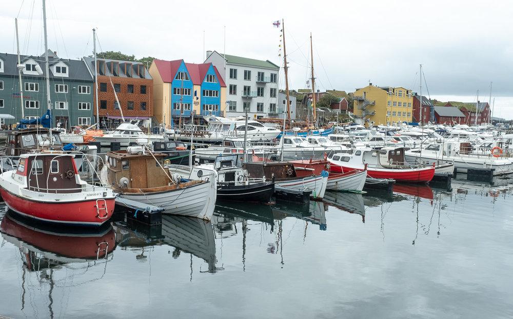 Torshavn harbour, Faroes