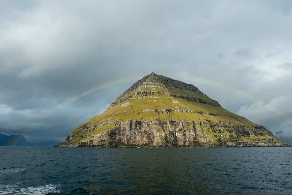 Rainbow over headland