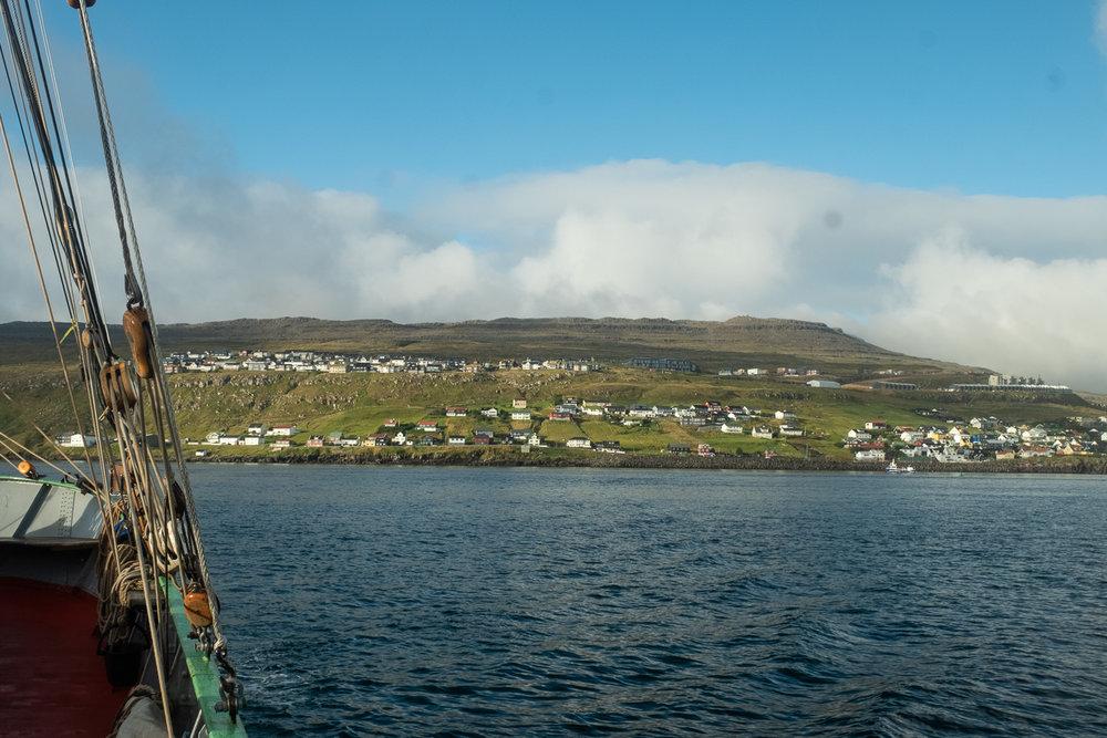 Leaving Torshavn harbour