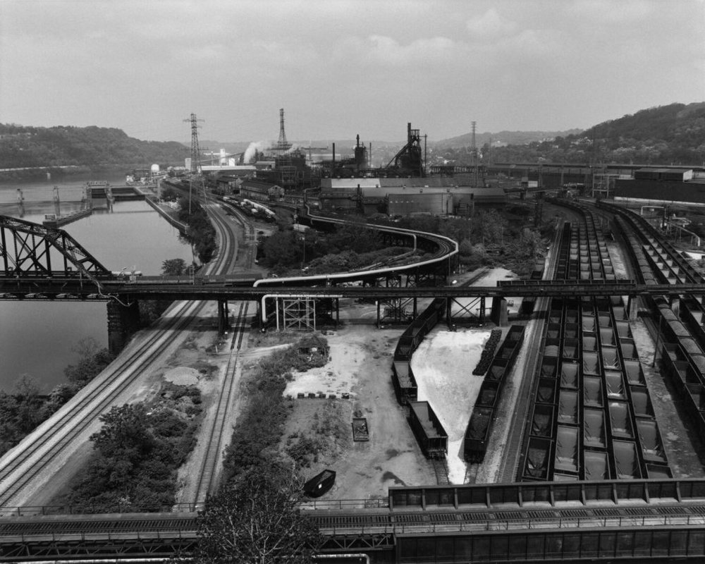 """U.S.S. Edgar Thomson Steel Works and Monongahela River, 2013"" by LaToya Ruby Frazier from the book The Notion of Family."