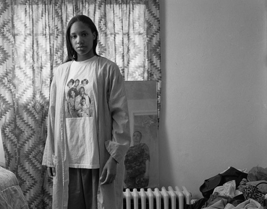 """Huxtables, Mom and Me, 2008"" by LaToya Ruby Frazier from the book The Notion of Family."