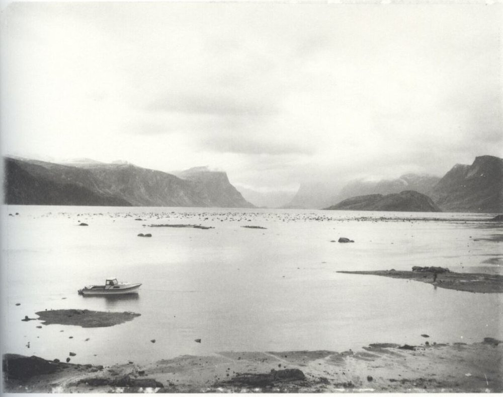 """Pangnirtung Harbour"" by Robert Frank from the book  Pangnirtung ."