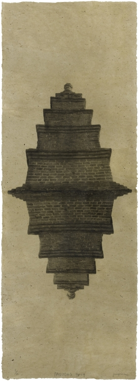 "This image provided by artist Jungjin Lee and the National Museum of Modern and Contemporary Art (MMCA) shows ""Pagoda 98-19."" (Yonhap)"