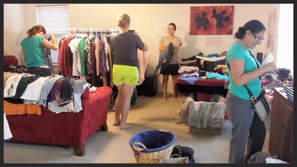 Everyone was encouraged to bring tops, bottoms, dresses, shoes, bags, jewelry and even intimates.