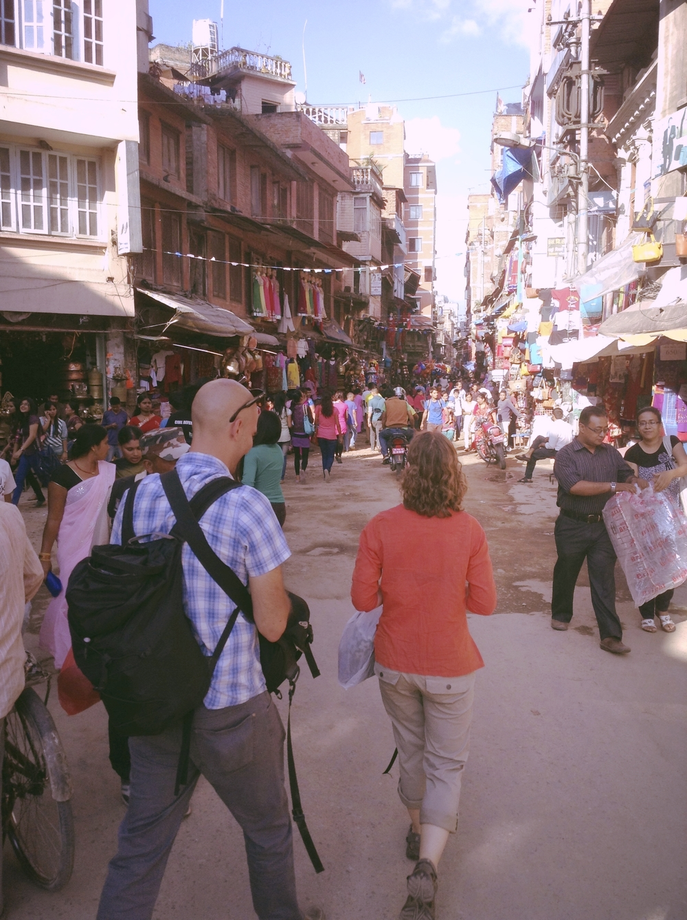 Shopping for fabric & notions in Nepal with Preston and Annie of AreRetro.