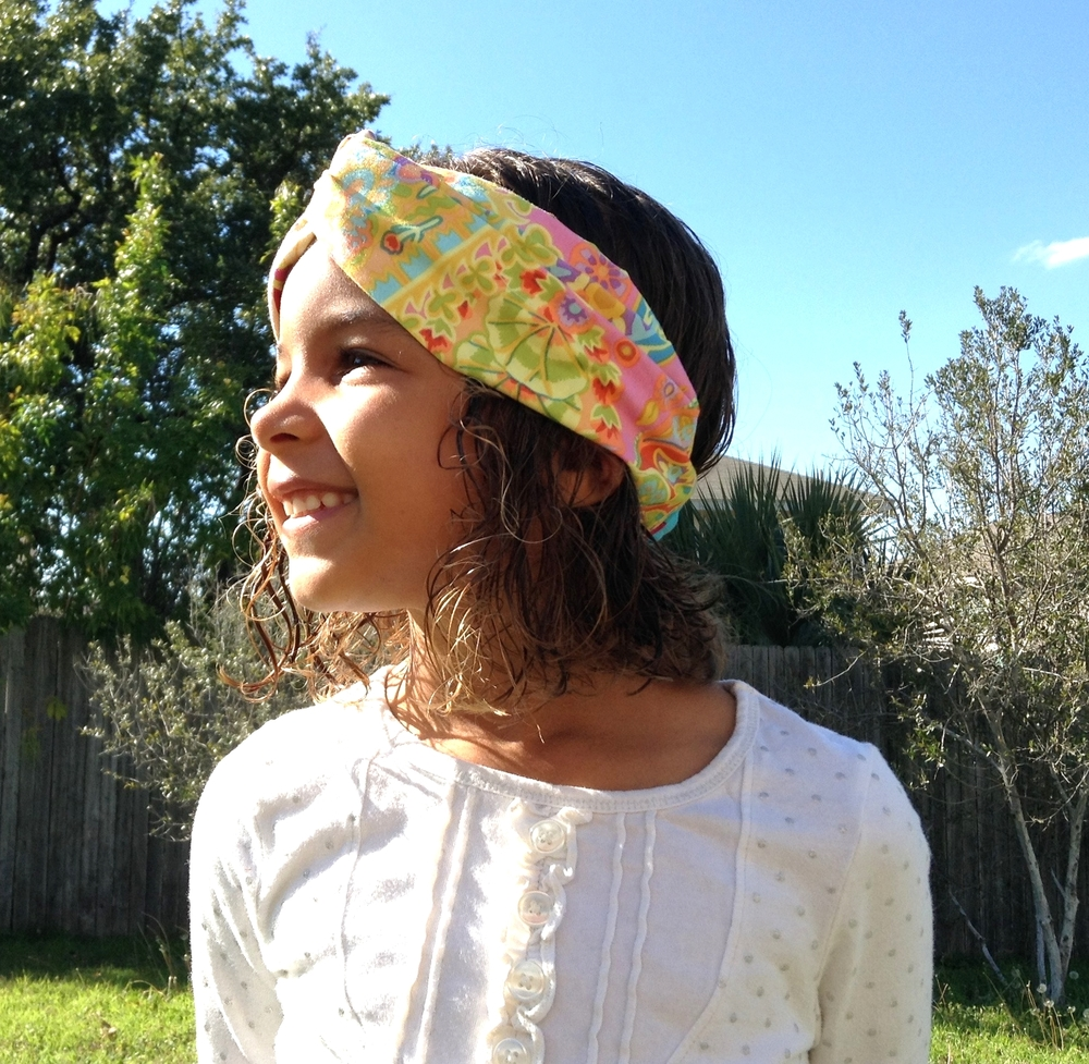 We are now working with refugee women in San Antonio to produce specialty items like this Turban Twist headband made from donated and upcycled materials. Message me for details or visit me at a local event this spring!