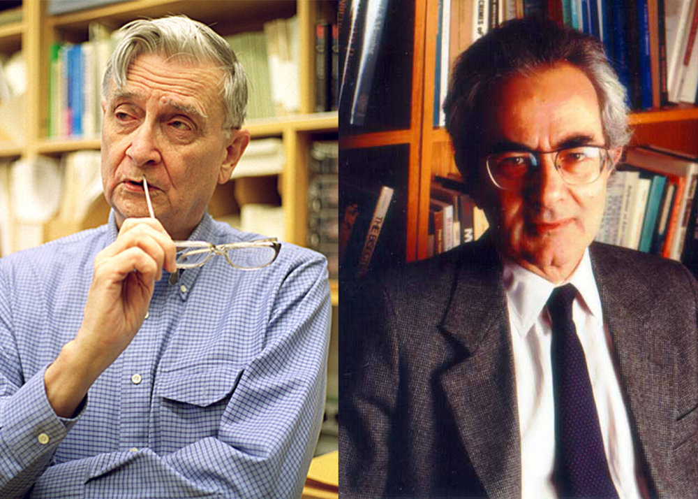 Edward O. Wilson, left. Thomas Nagel, right.