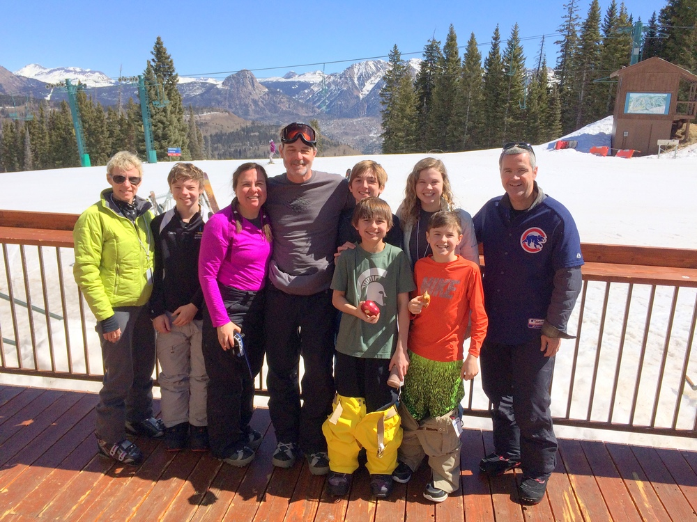 Pictured: Tom Scotty (COO of RedShelf)and family snowboarding for Spring Break in Durango, CO!