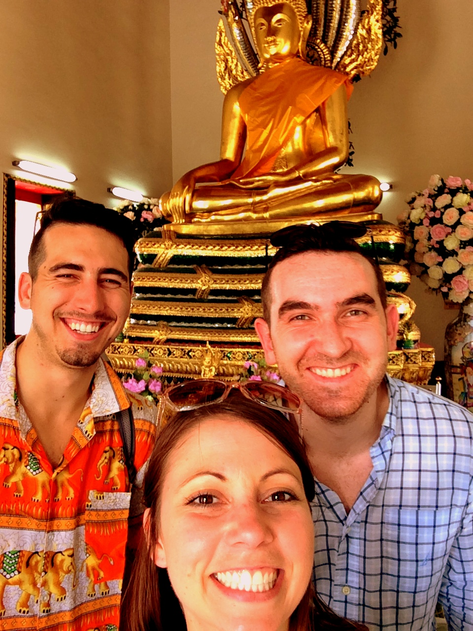 Pictured: An oversees #RedShelfie withKyle (Regional Sales Manager), Scott (Chief Technology Officer, and Shannon (Director of Sales and Marketing) at the Grand Palace in Bangkok, Thailand.