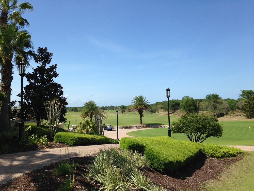 The view from one of Gordon's many trips to the golf course!