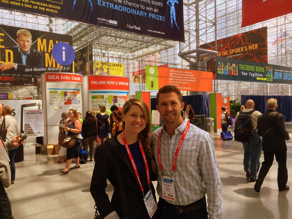 Pictured: Briana Haguewood and Greg Fenton on the show floor.