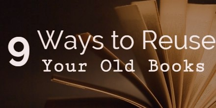 How to 9 ways to reuse your old books the redshelf review for How to reuse old books
