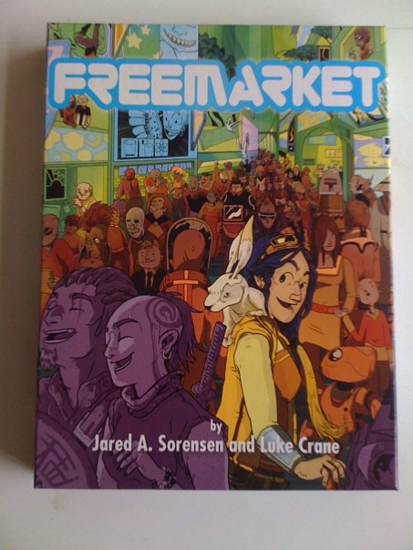 In 2007, Luke Crane and I were hired on to Hidden City Entertainment to make a prototype for a play-over-video RPG. June 10, 2010 we got the boxed set from the printers. Happy birthday, FreeMarket! You're one of the good 'uns.