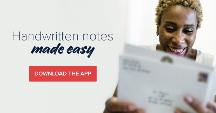 "Brand tagline: ""Handwritten notes made easy"""