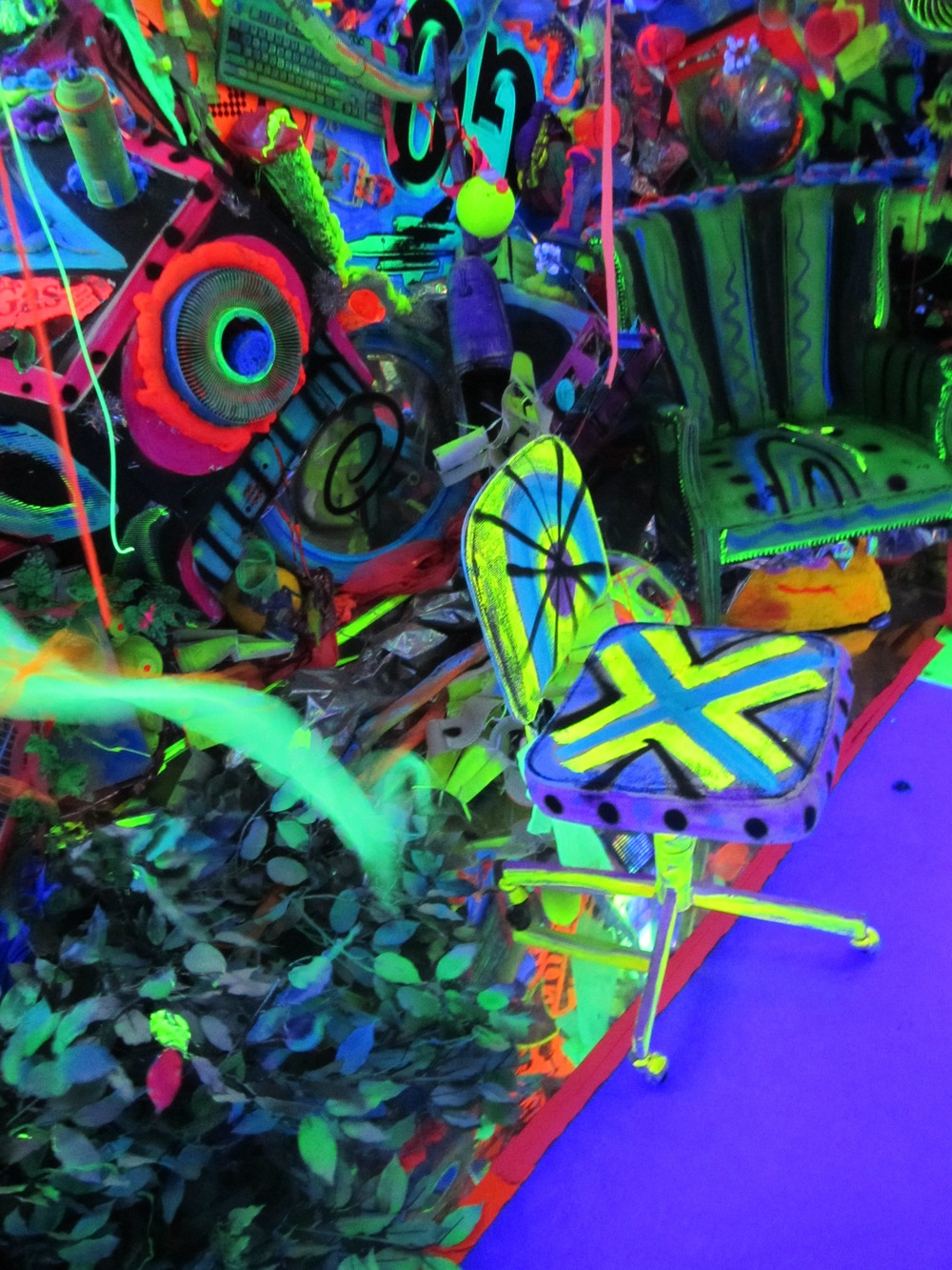 work by Kenny Scharf, Nassau County Museum of Art
