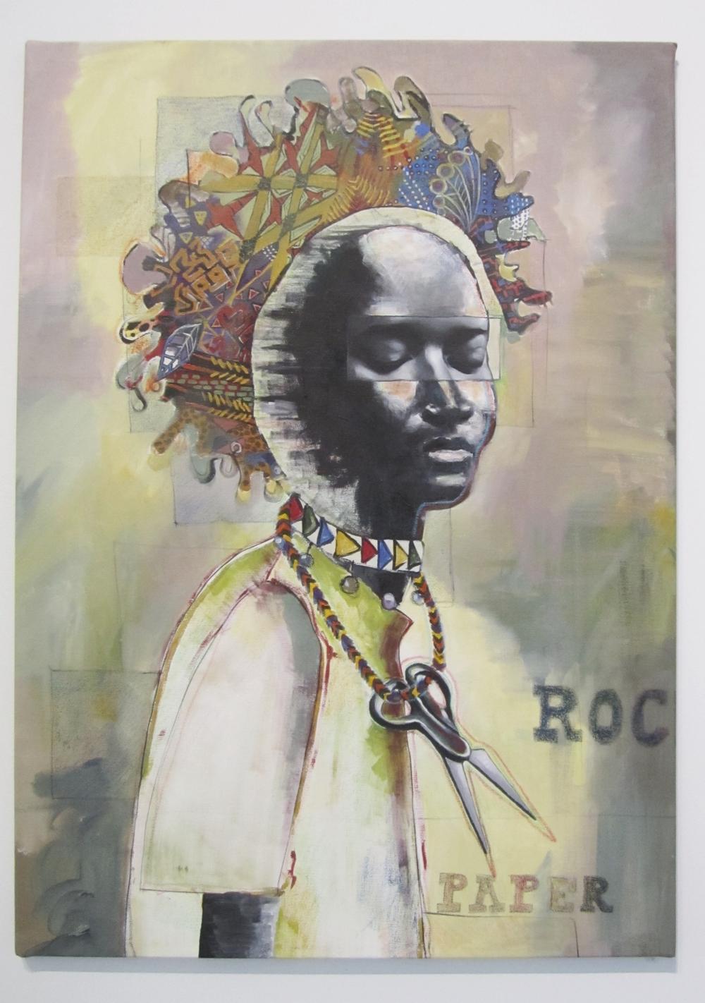 Shaina Tabak,  Rock Paper Scissors,  Acrylic on canvas