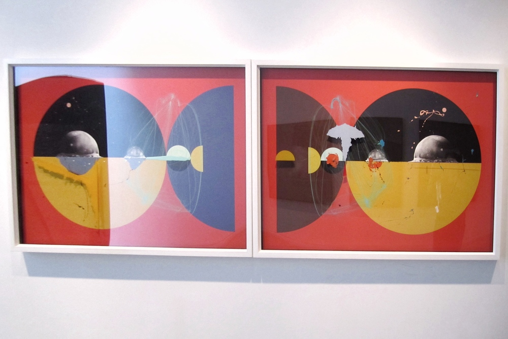 Aditya Pande ,  HALF LIFE FORM VII & IX (DIPTYCH),   Mixed media on archival paper, 2012