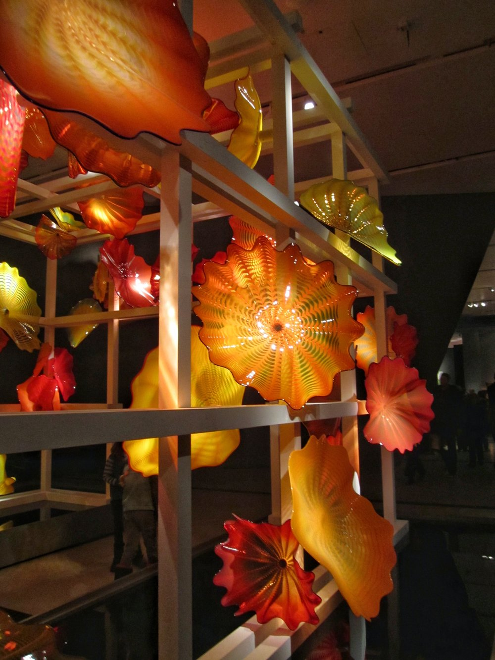 Detail of Chihuly's  Persian Trellis installation